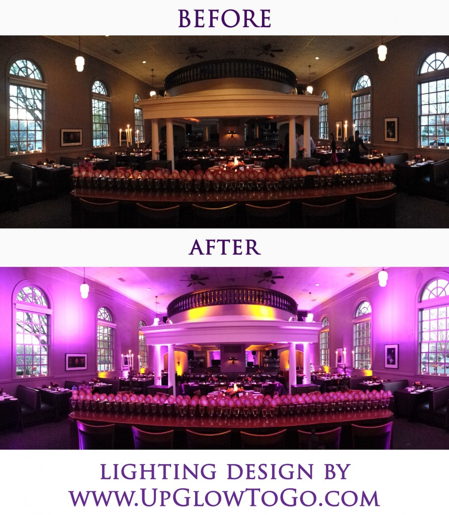 Lighting Design in Charlotte NC at Bonterra Dining & Wine Room